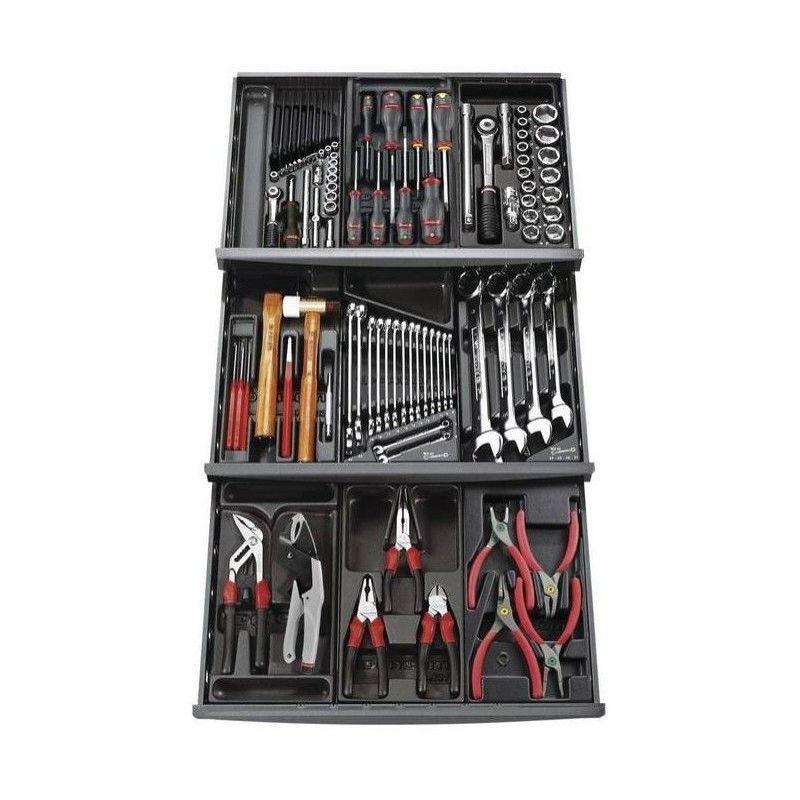 FACOM Composition 9 modules 3 tiroir 101 outils mécanicien servante FACOM 1265.69