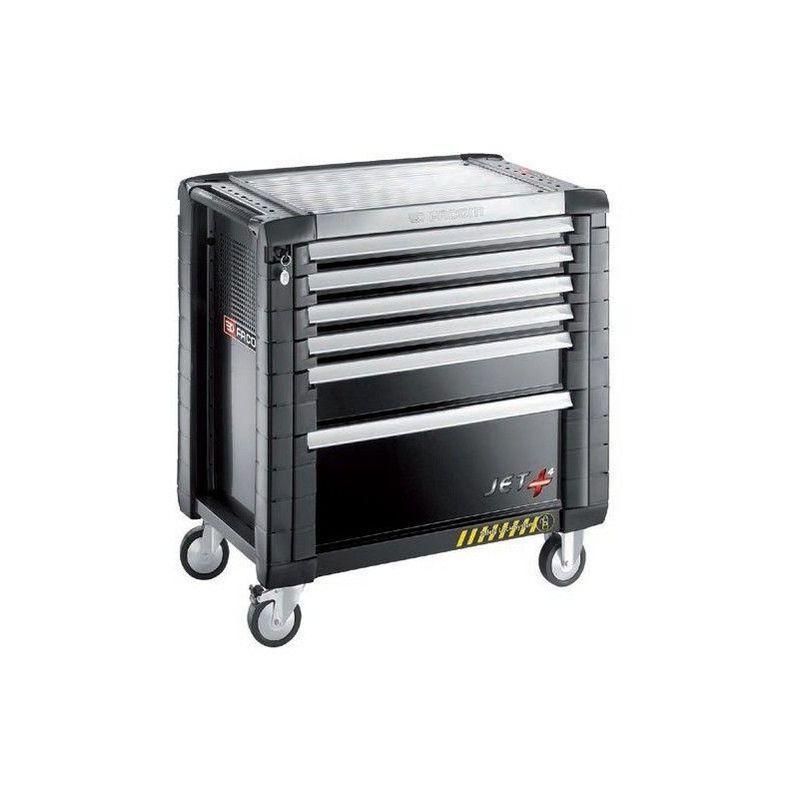 Facom Servante JETM4 sécurité avec inter-verrouillage intégré 6 tiroirs noir