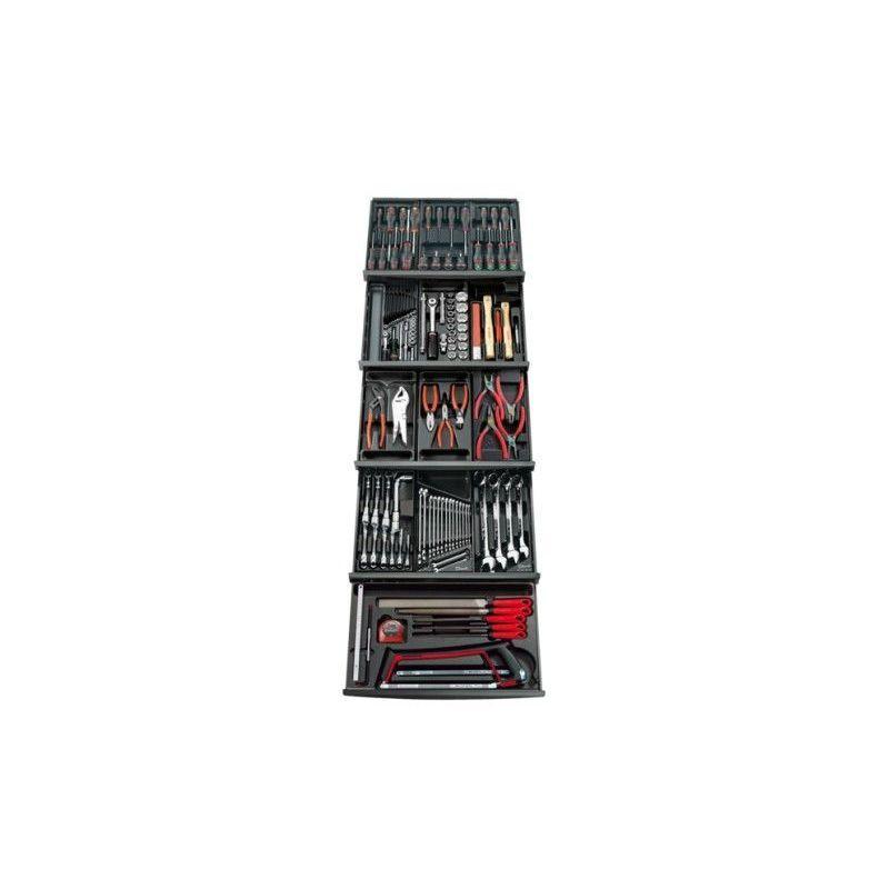 FACOM Composition 13 modules 4 tiroirs servante FACOM 143 outils CM.143PB 1703.69