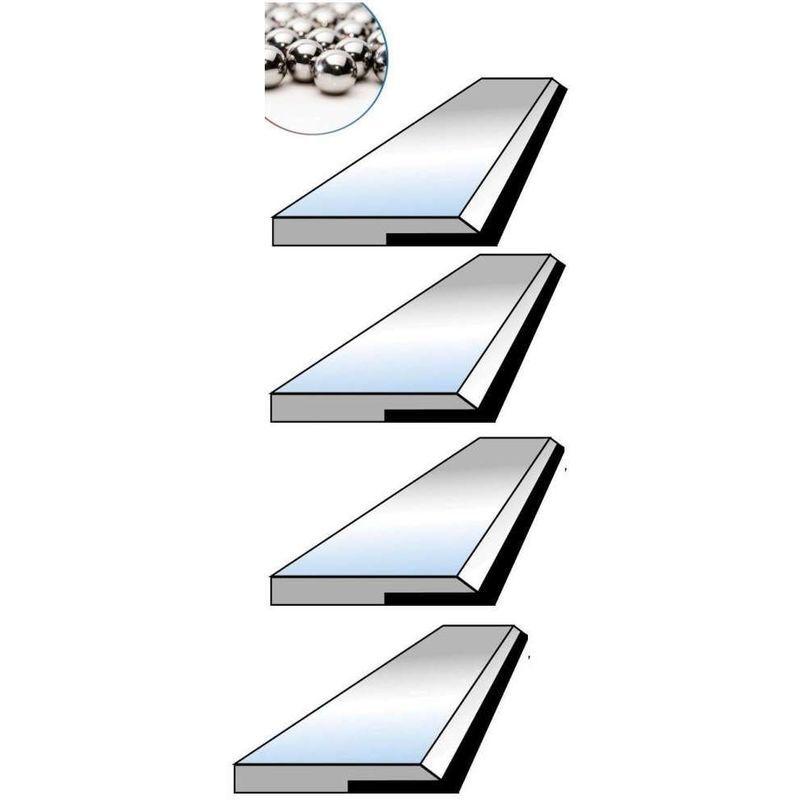 PROBOIS Fer de dégauchisseuse 310 x 20 x 3.0 pour Plana 4.1c au carbure (jeu de 4)