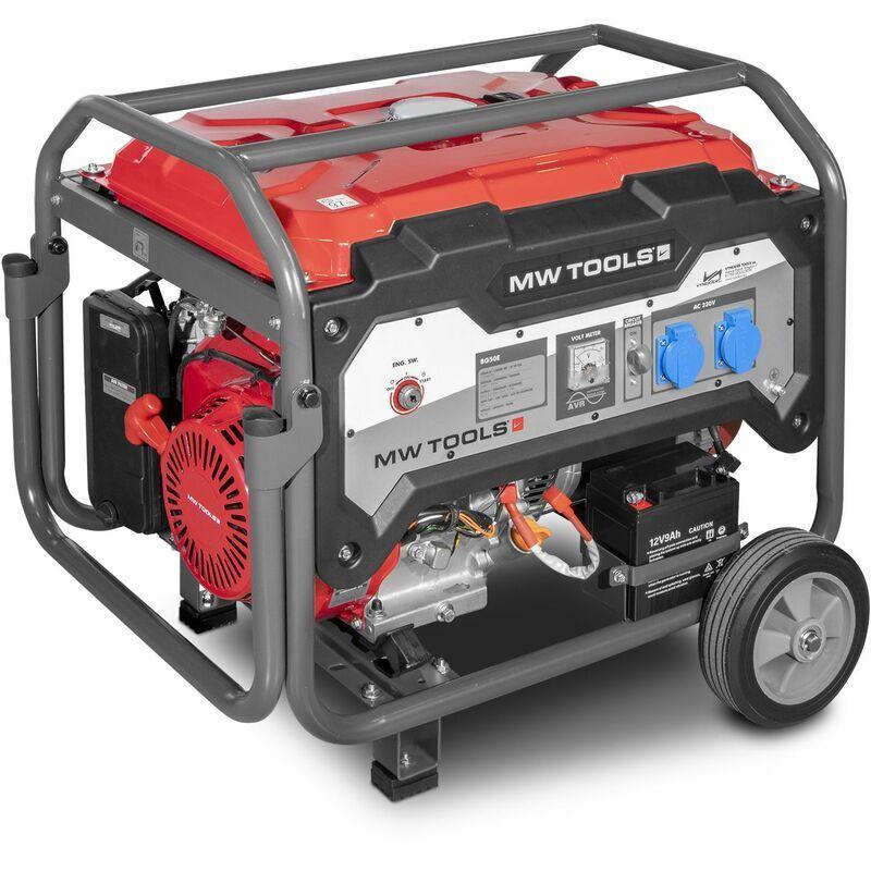 MW-TOOLS Générateur essence 230V 5kW - démarrage électrique MW-Tools BG50E