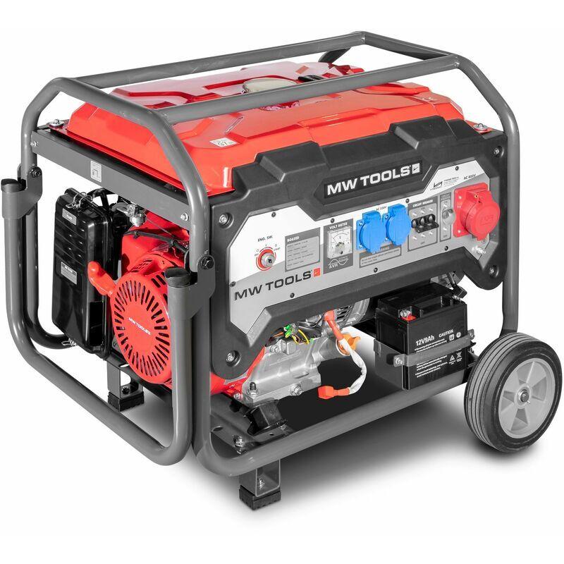 MW-TOOLS Générateur essence 3x400V 6,5kW - démarrage électrique MW-Tools BG65ED