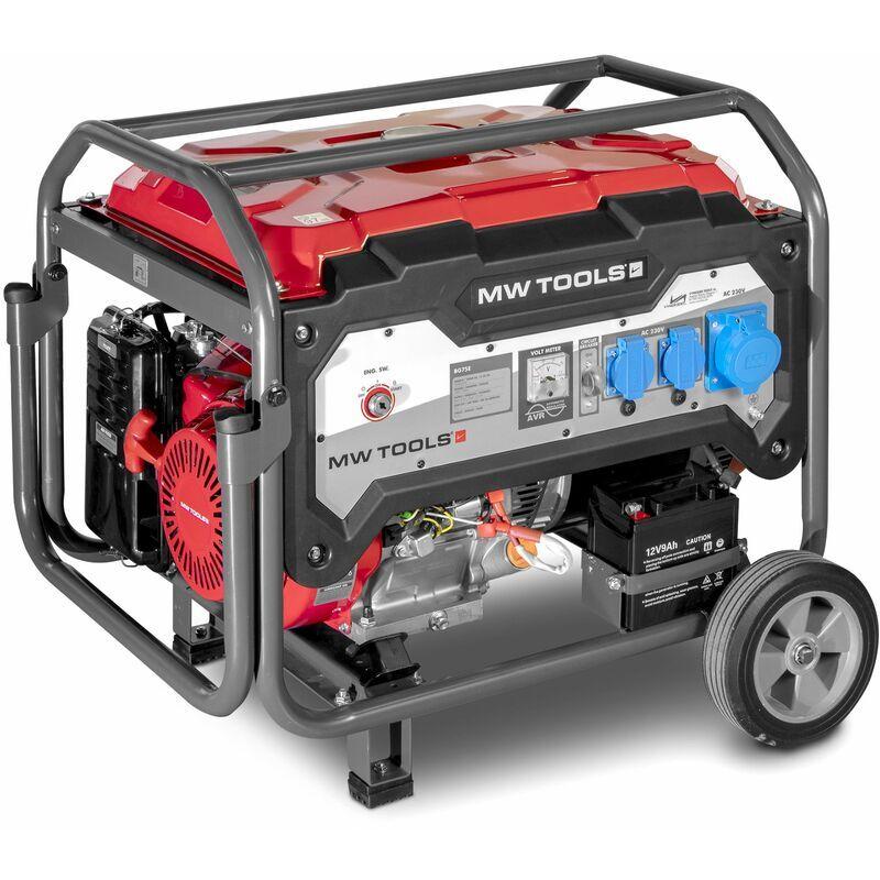 MW-TOOLS Générateur essence 7,5 kW 230 V - démarrage électrique MW-Tools BG75E