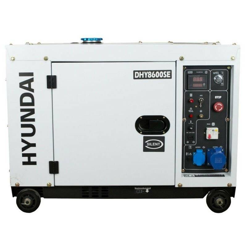 Hyundai E - Groupe électrogène diesel Hyundai DHY8600SE 6300w mono