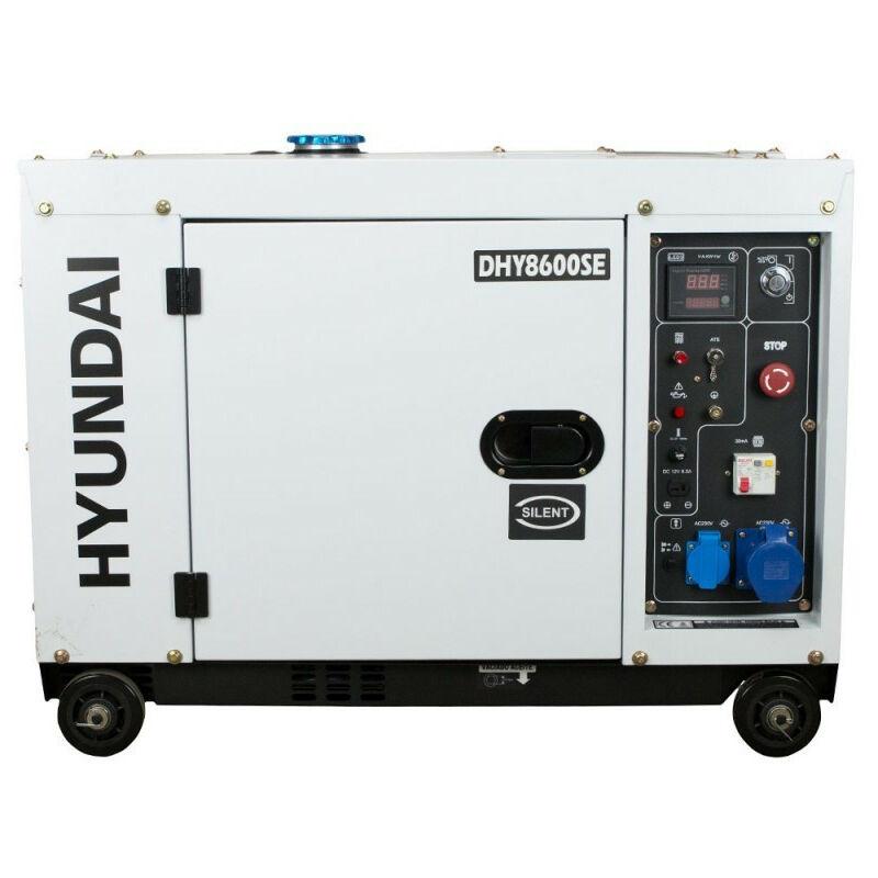 HYUNDAI Groupe électrogène diesel DHY8600SE 6300w mono - Hyundai