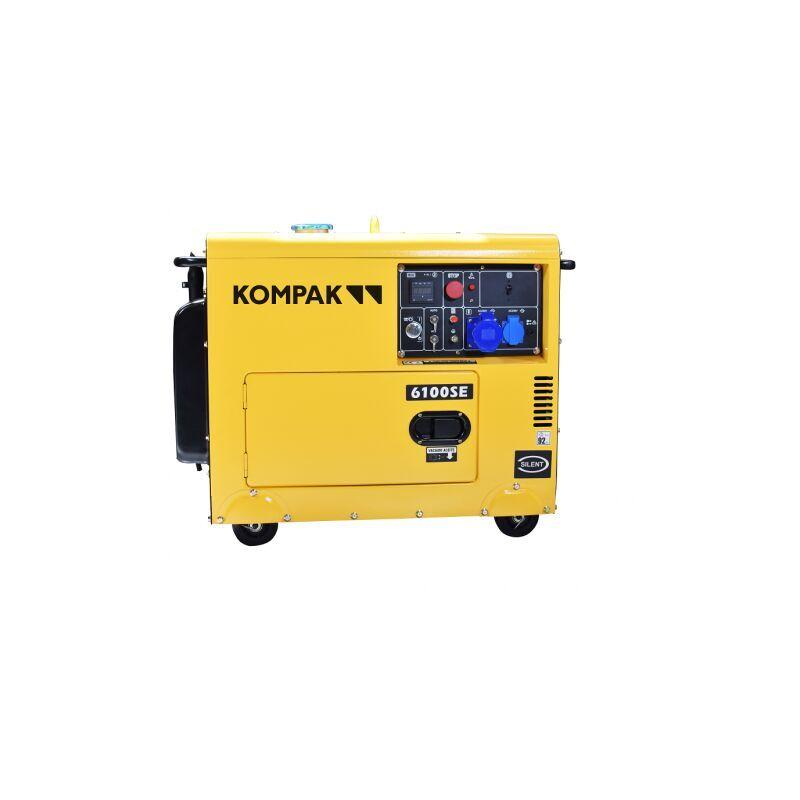 KOMPAK 5.5kw Diesel NT-6100SE groupe électrogène insonorisé démarrage élec - Kompak