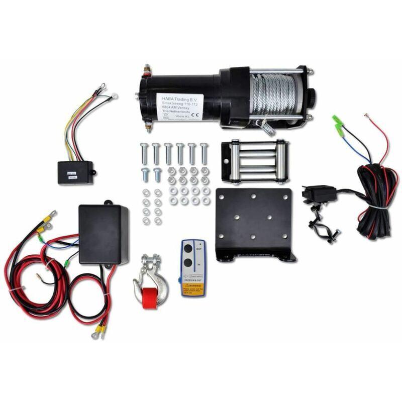 Hommoo Treuil électrique 12 V 1360 kg avec télécommande sans fil HDV07706