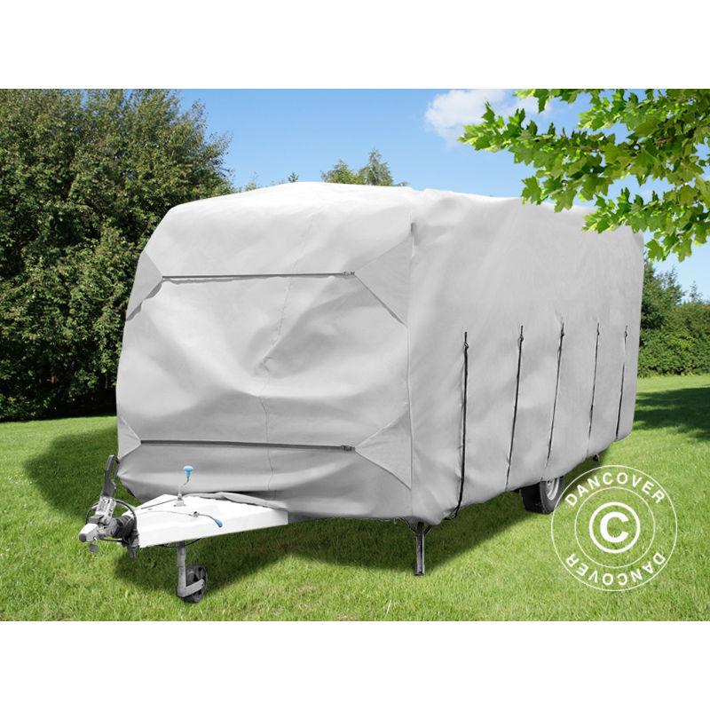 DANCOVER Housse pour camping car, 5,8x2,5x2,25m, Gris