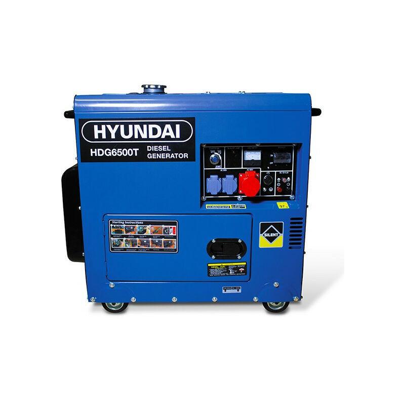 HYUNDAI Groupe électrogène diesel 6000 W 6500 W - Triphasé