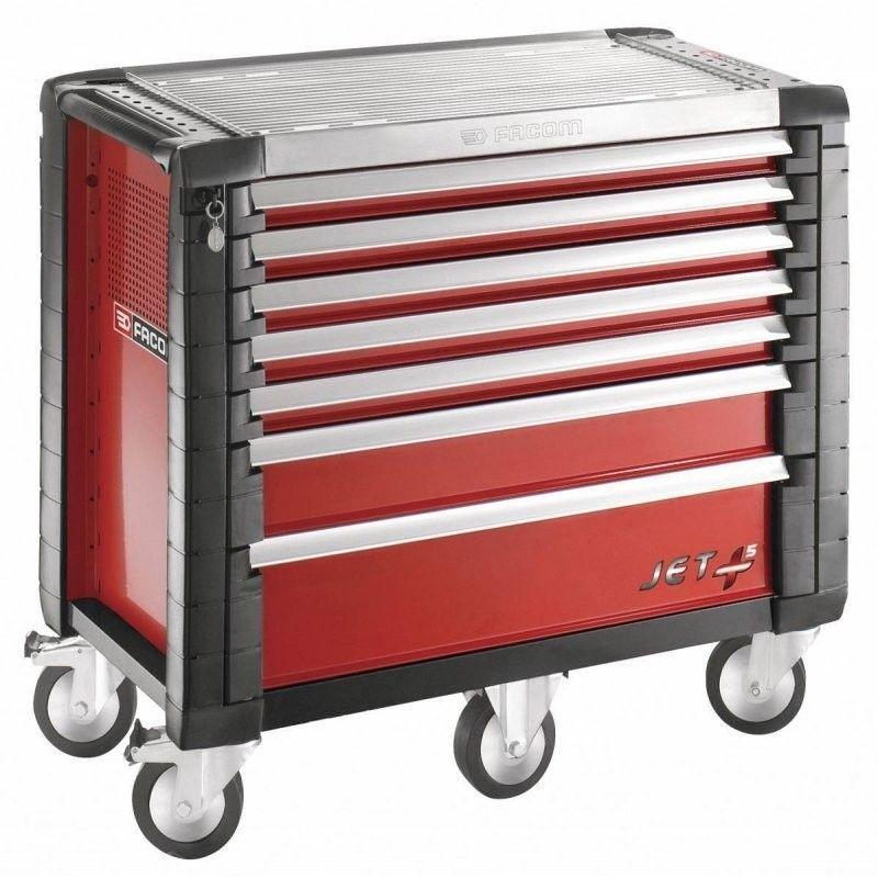 Facom - JET.7M5PB. Servante JETM5 7 tiroirs rouge 1999.47