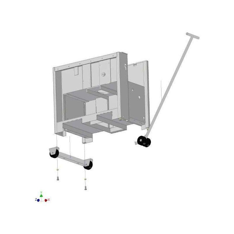 Kity-scheppach-woodstar - Kit de déplacement pour scie à ruban dégauchisseuse