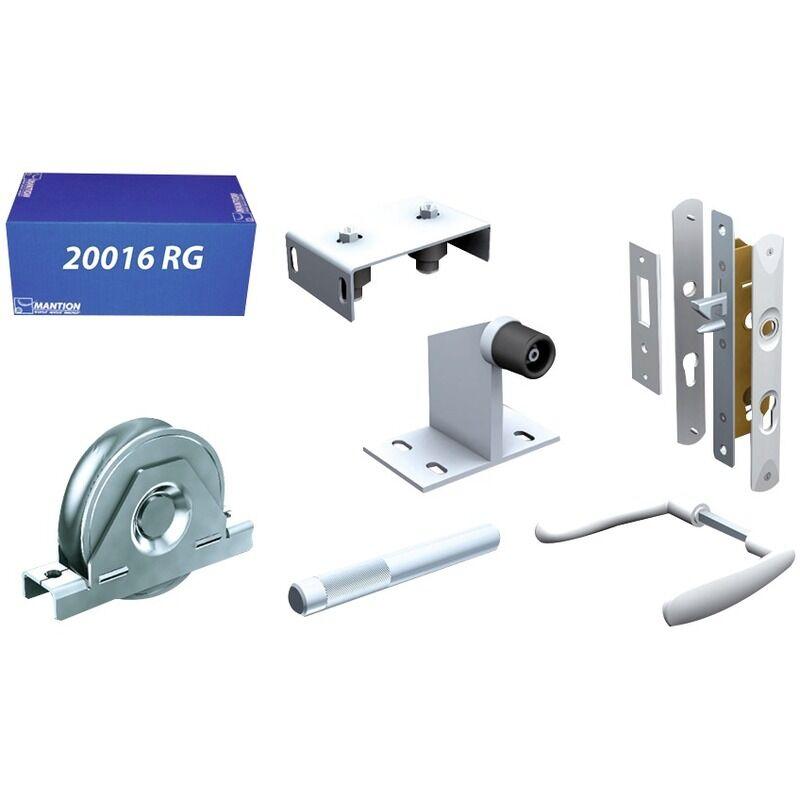 MANTION Kit garniture pour portail manuel sur roulement au sol Mantion - 400 kg - Gris