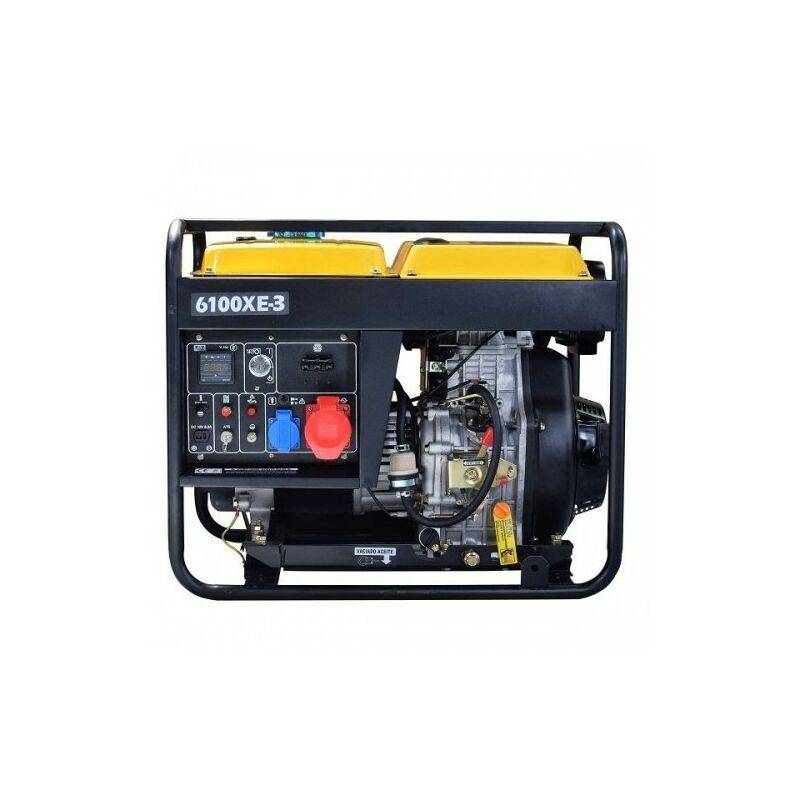 KOMPAK 6.9kva diesel groupe électrogène démarrage élec AVR NT-6100XE-3 tri - Kompak