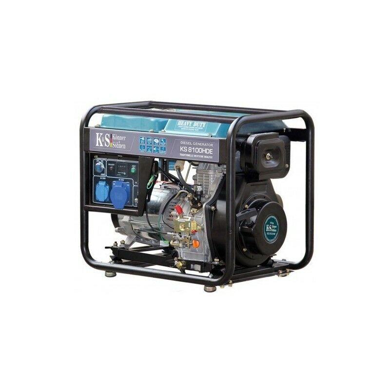 KÖNNER & SÖHNEN Konner & Sohnen Groupe électrogène diesel 6.5kw déma élec KS 8100HDE - Bleu