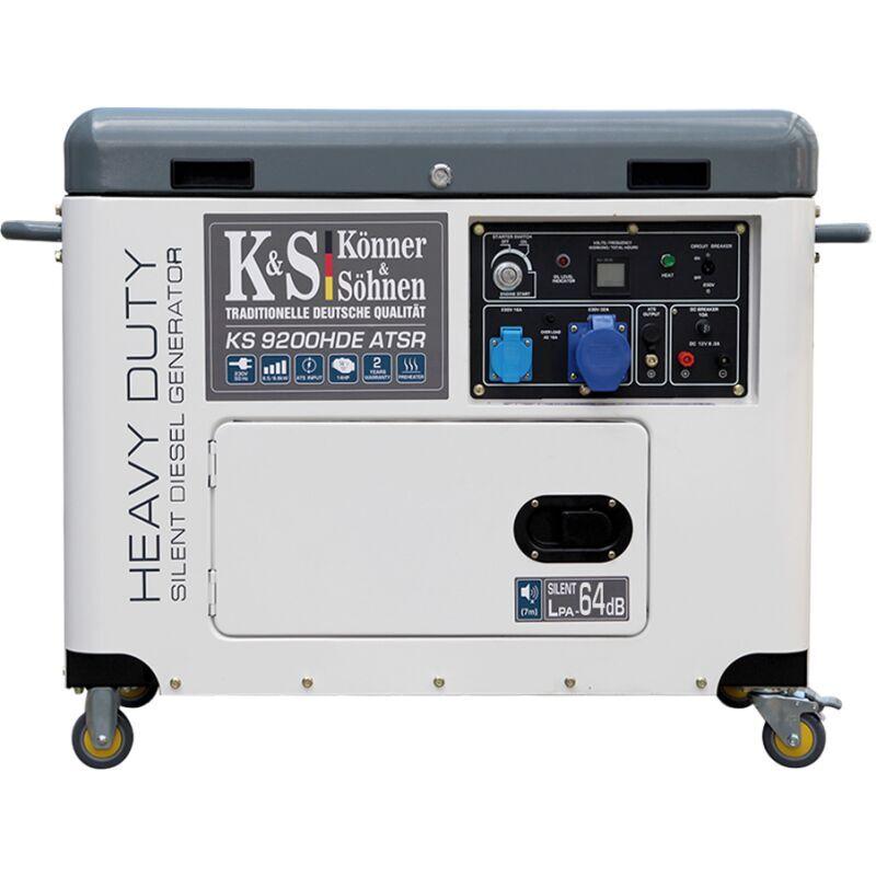 KÖNNER & SÖHNEN Konner & Sohnen groupe électrogène Diesel télécommande mono 6.8KW KS 9200HDE