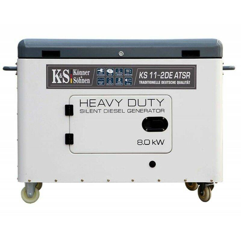 KÖNNER & SÖHNEN Konner & Sohnen groupe électrogène Diesel mono 8000W KS 11-2DE-ATSR - Gris