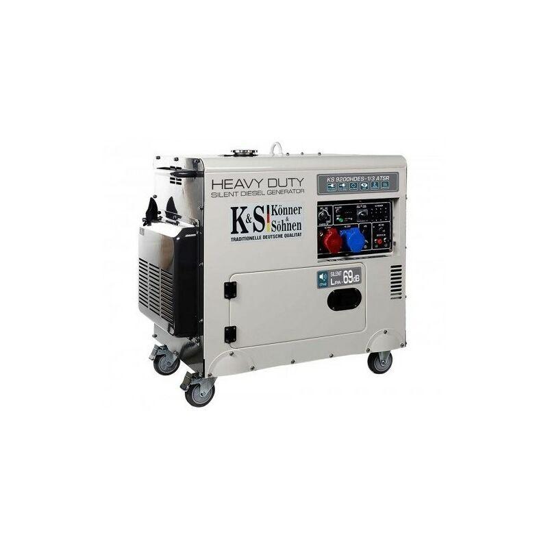 Könner & Söhnen Diesel mono et triphasé groupe électrogène 7500w KS 9200