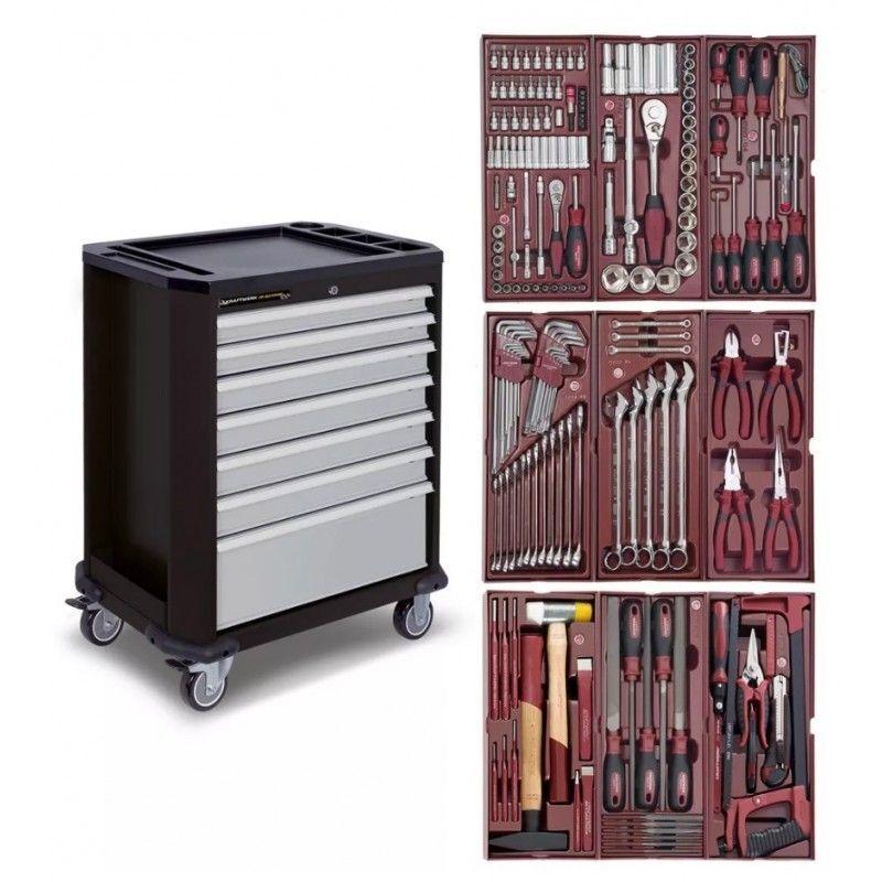 KRAFTWERK Servante d'atelier KRAFTWERK 7 tiroirs avec 191 outils professionnels intégrés