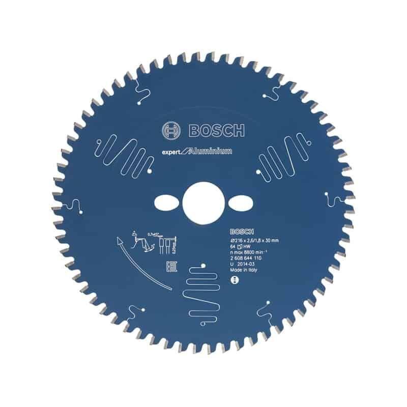 BOSCH Lames scie à onglet radiale Expert for Aluminium (216 mm - 64)