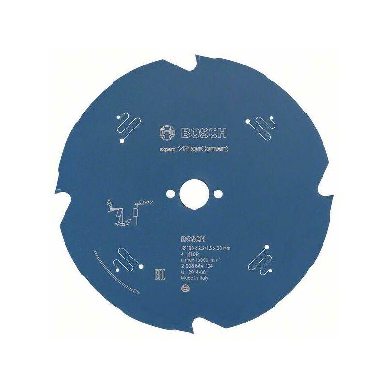 Bosch Lame de scie circulaire Expert for Fibre Cement, 190 x 20 x 2,2 mm, 4