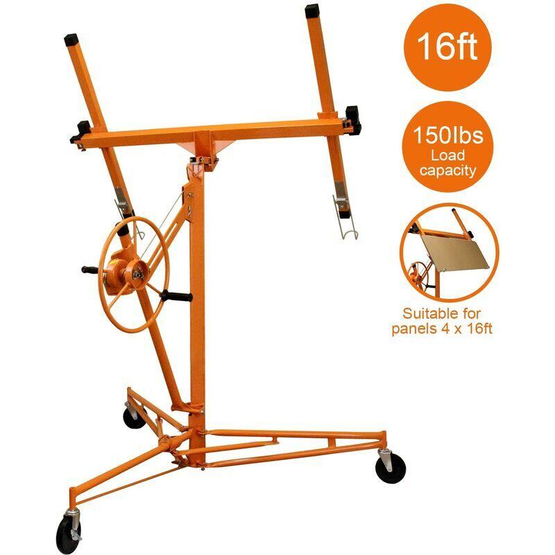 T-MECH Lève-Plaques 5m Placoplâtre - Orange