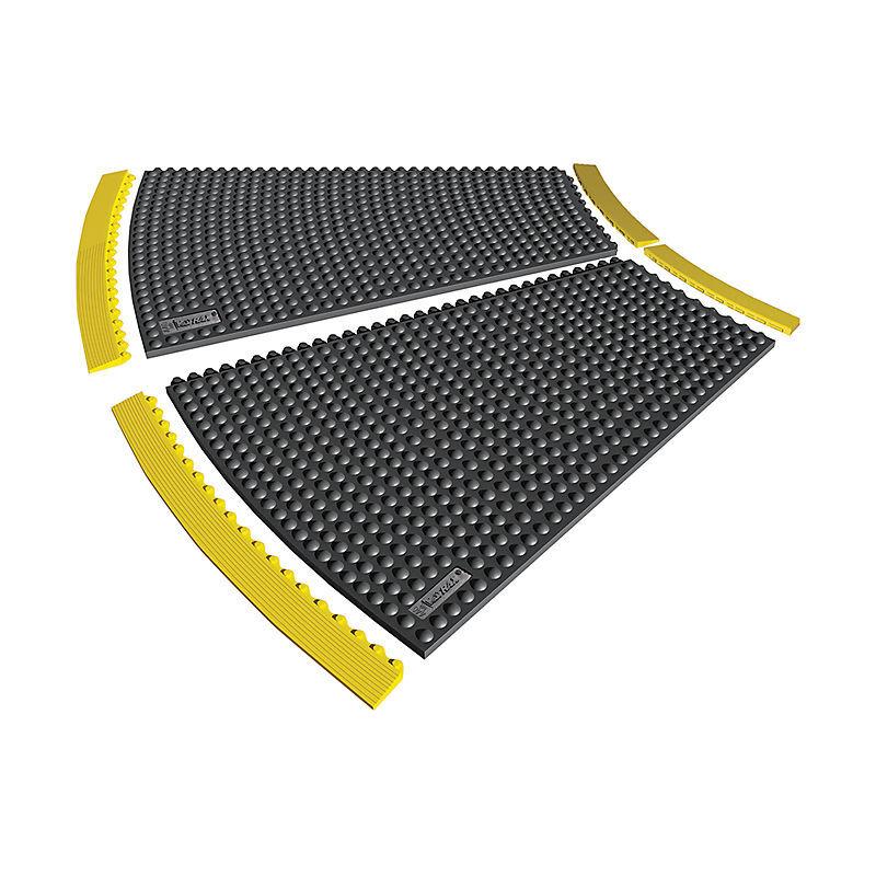 JUSTRITE Lisière en caoutchouc-nitrile antistatique - largeur 910 mm - hauteur 13 mm