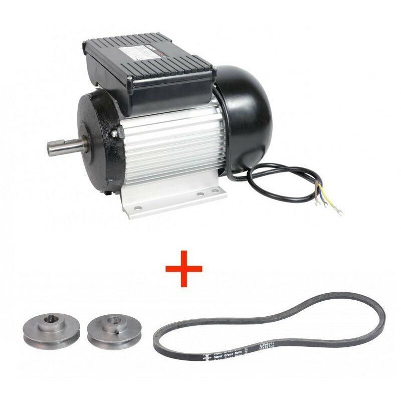 Moteur électrique 2CV asynchrone 1400 trs 230V monophasé – Rondy