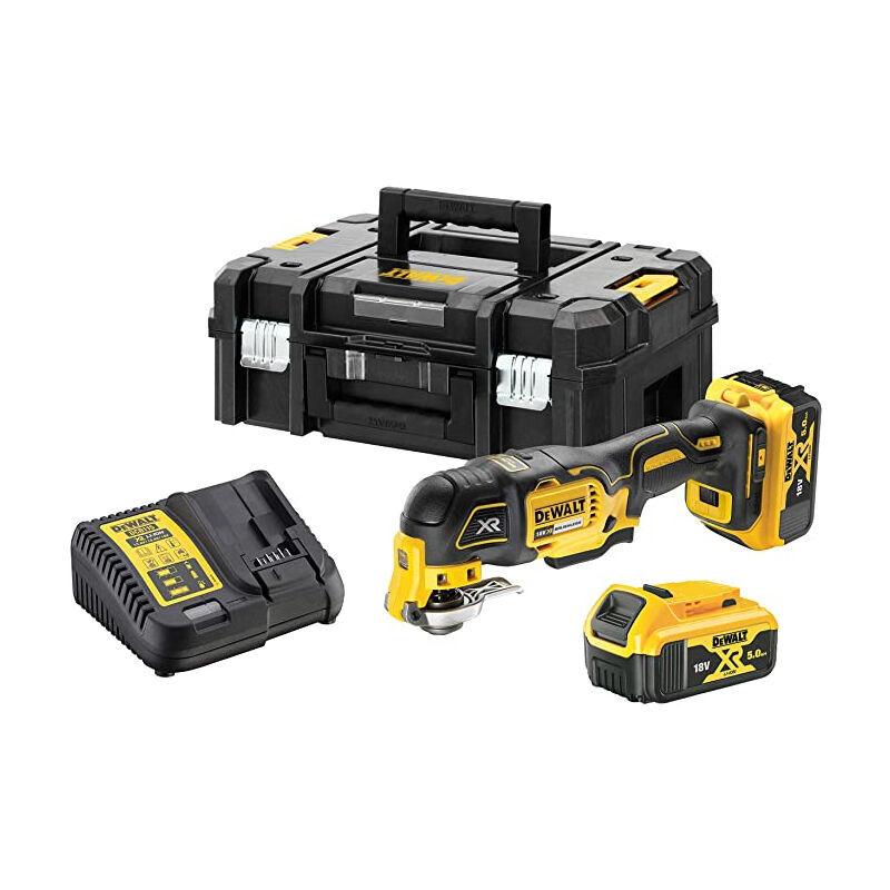 DEWALT Multi cutter 18V 5.0Ah Li-Ion + 29 accessoires en coffret Tstak - DCS356P2-QW