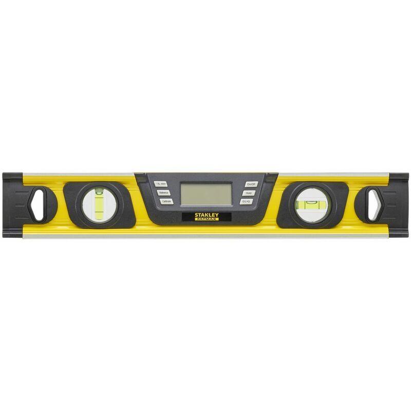 Stanley - Niveau Digital - 40 cm - 2 Fioles - Ecran LCD Rétro-éclairé - FATMAX