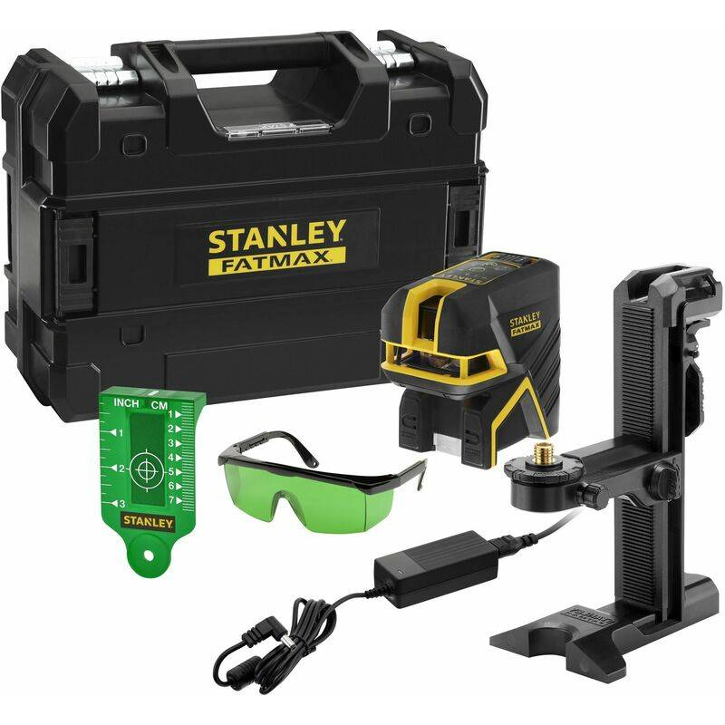 Stanley - Niveau Laser Croix + 2 Points - SCPG2 (Li-Ion) - Vert - 50 m - FATMAX