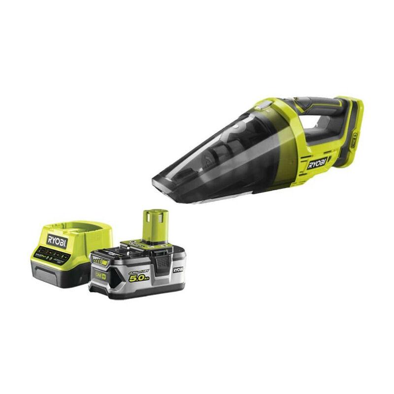 RYOBI Pack aspirateur à main RYOBI 18V One Plus R18HV-0 - 1 batterie 5.0Ah - 1