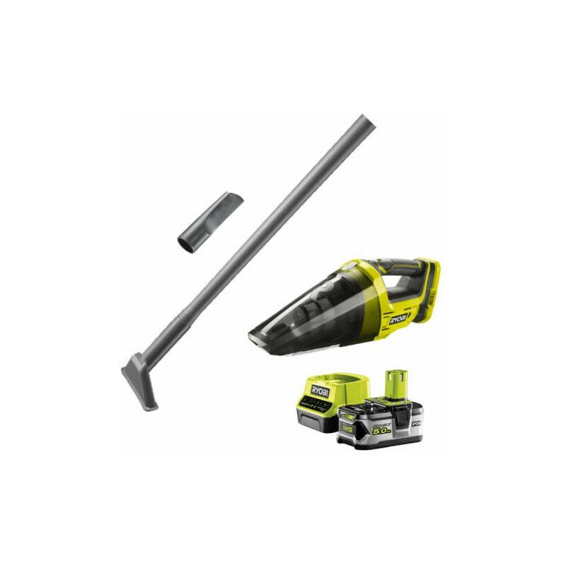 RYOBI Pack aspirateur a main RYOBI 18V One Plus R18HVF-0 - 1 batterie 5.0Ah - 1