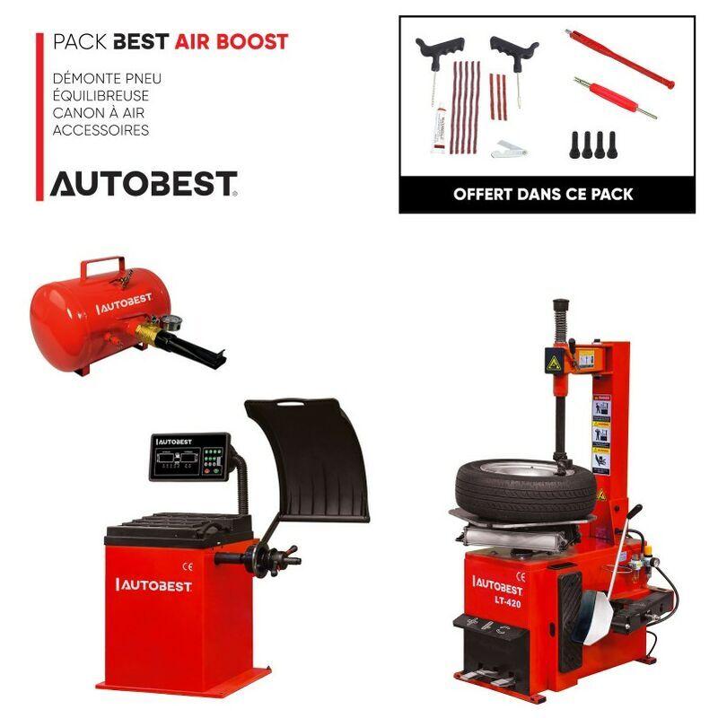Autobest - Pack BEST AIR BOOST démonte pneu, equilibreuse, canon à air et
