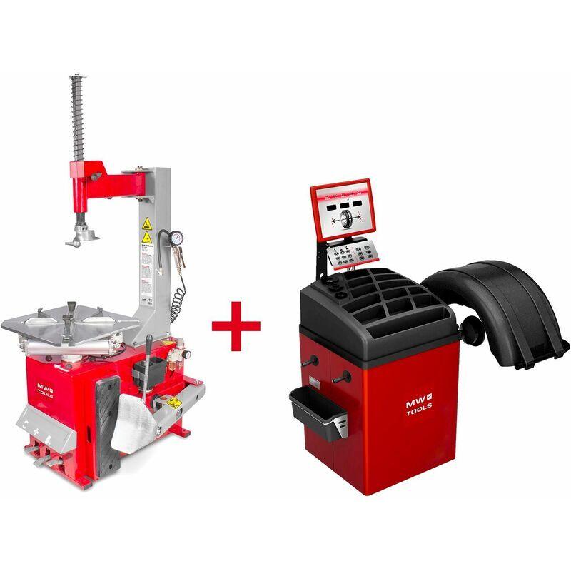 MW-TOOLS Pack démonte-pneu BT100 3x380V et équilibreuse de roues BB350 220V MW-Tools