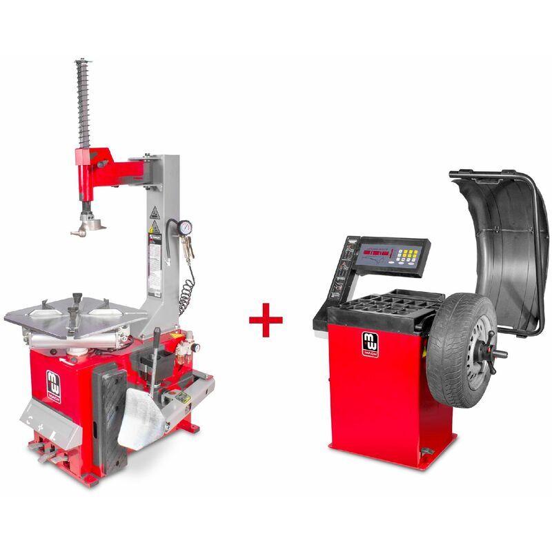 MW-TOOLS Pack démonte-pneu et équilibreuse de roues BT100M+BB200 MW-Tools SET BT100M +