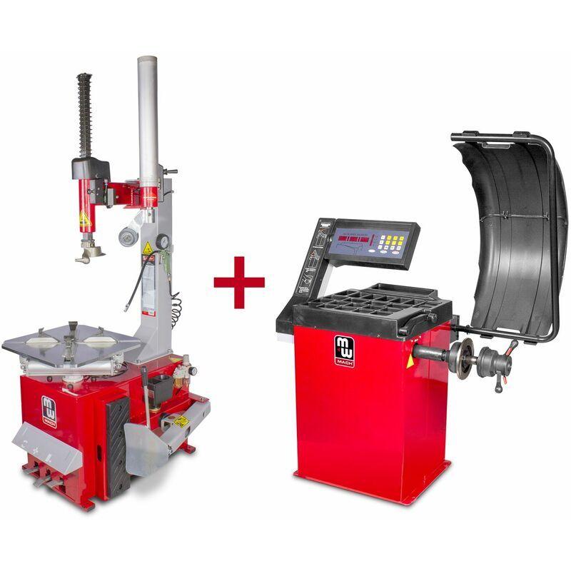 MW-TOOLS Pack démonte-pneu BT200 3x380V et équilibreuse de roues BB200 220V MW-Tools