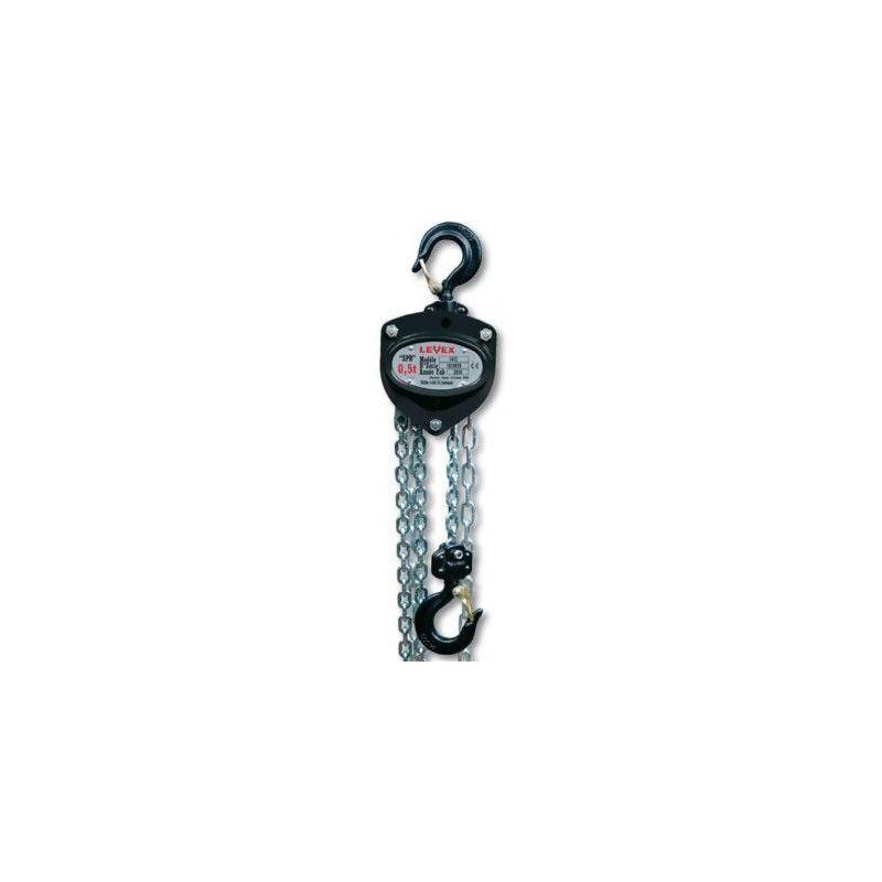 Websilor - Palan manuel levex - Hauteur de levée : 9 mètres - Capacité : 500 kg