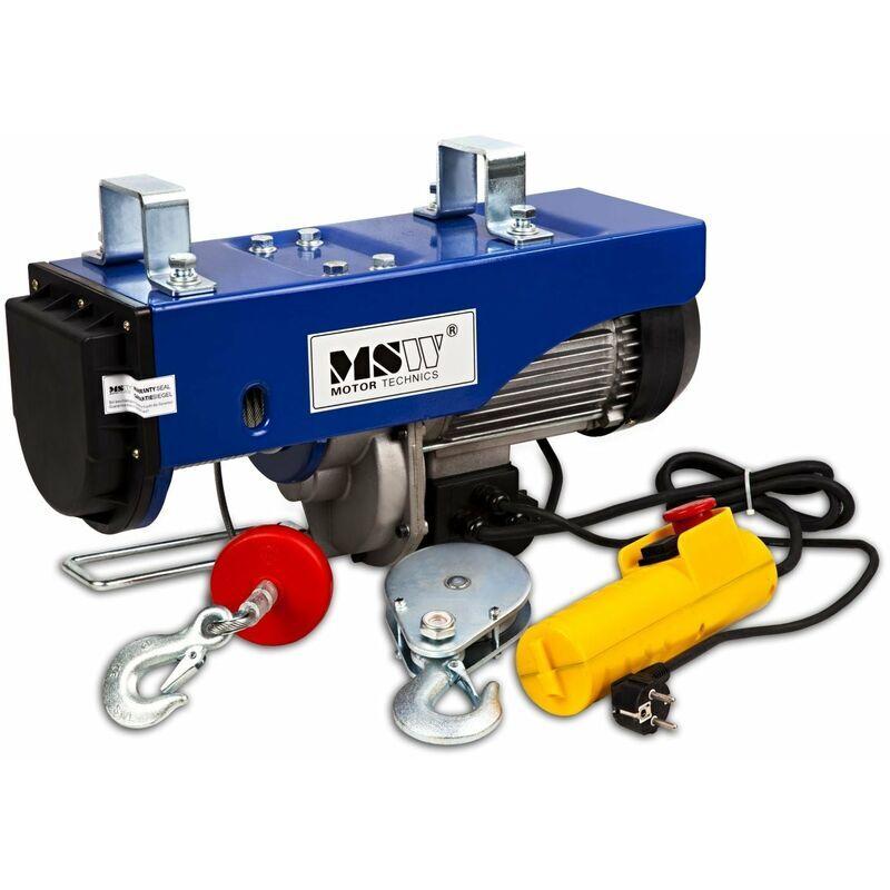 HELLOSHOP26 Palan treuil électrique pro avec télécommande 1 300 W 400/800 kg outils atelier