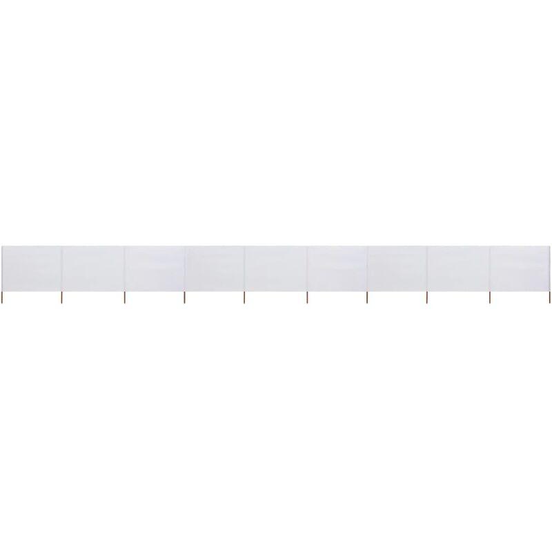 Youthup - Paravent 9 panneaux Tissu 1200 x 120 cm Blanc sable