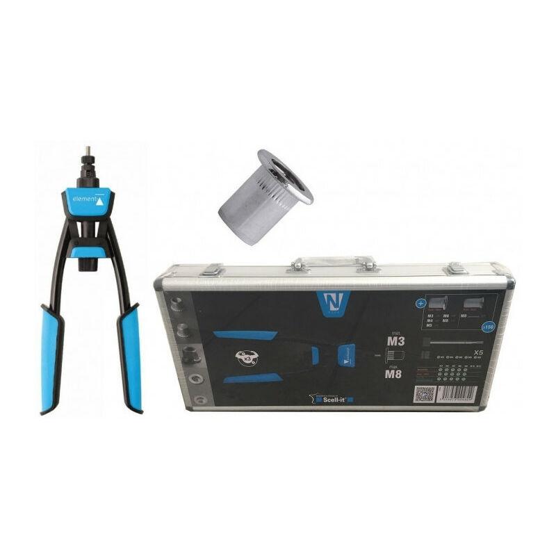 SCELL-IT Pince à levier N200 pour écrous à sertir SCELL-IT + 150 écrous