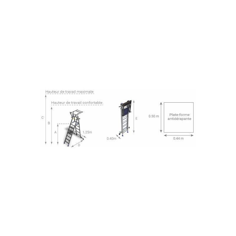 ESCABEAU PIRL - MATISERE Escabeau Pirl-matisere - A. Escabeau pro 7 marches