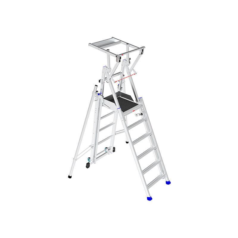 ESCABEAU PIRL - MATISERE B. Escabeau télescopique de 6 à 9 marches. Hauteur de travail maximale de 4.23m