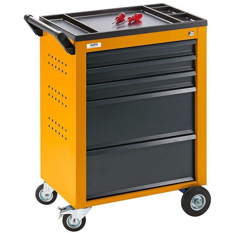 QUIPO Servante d'atelier - 5 tiroirs à blocage individuel - h x l x p 930 x 630