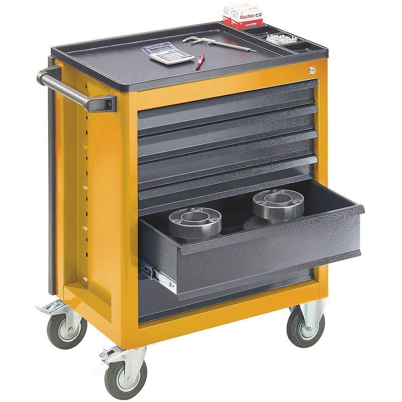 QUIPO Servante d'atelier - 6 tiroirs à ouverture sélective - h x l x p 930 x