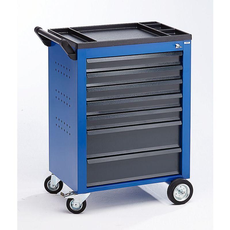 QUIPO Servante d'atelier - 7 tiroirs à blocage individuel - h x l x p 930 x 630