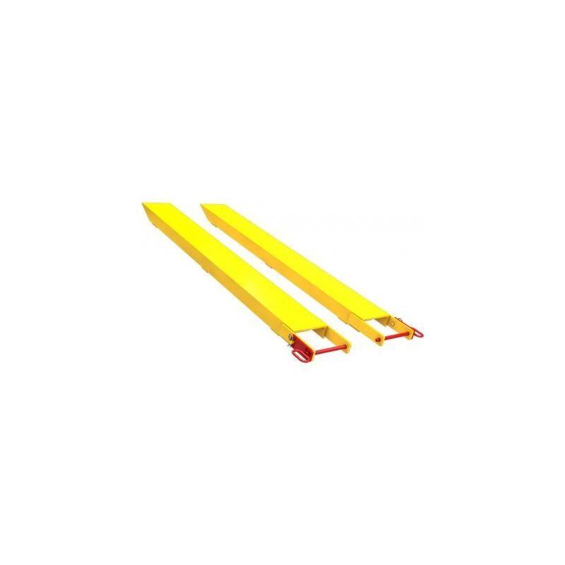 WEBSILOR Rallonge fourche avec axe à goupiller - 2,5 tonnes - Longueur : 2200 mm