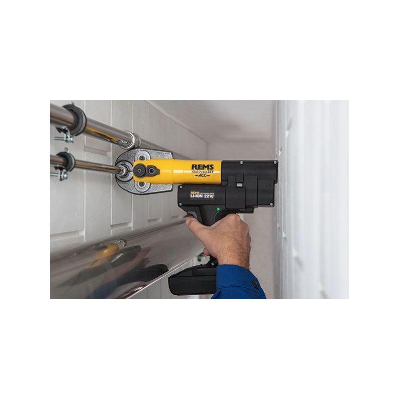 Rems Mini Press 22 V ACC Li Ion Limited Edition Set pince a sertir M M15 M18