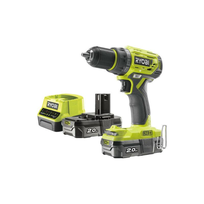 RYOBI Perceuse Visseuse RYOBI 18V One Plus Brushless - 2 batteries 2,0Ah - 1 chargeur