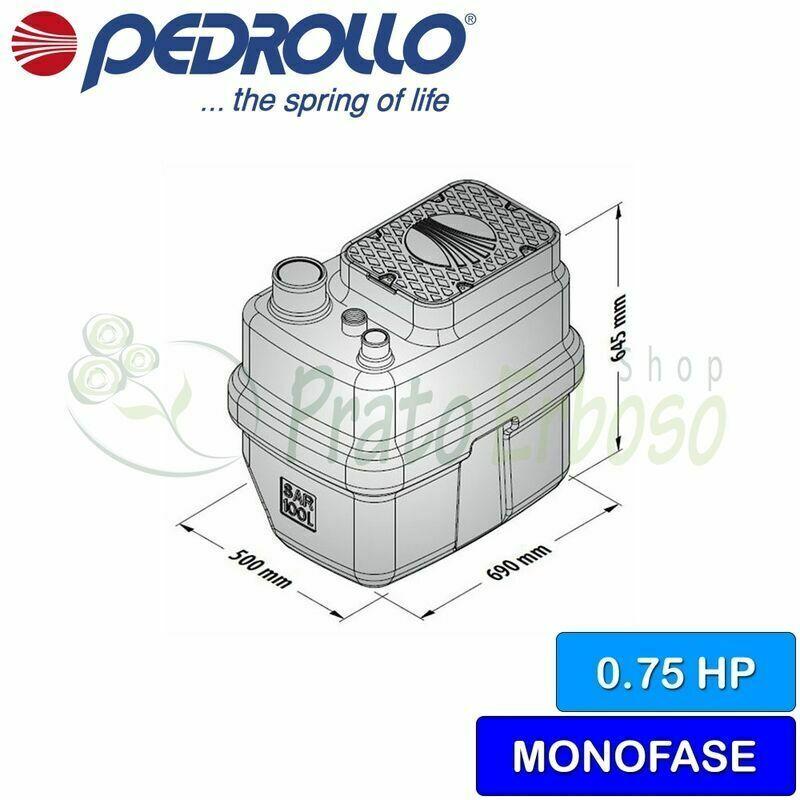 PEDROLLO SAR 100-TOP 3-VORTEX - Station de relevage de l'eau croupie