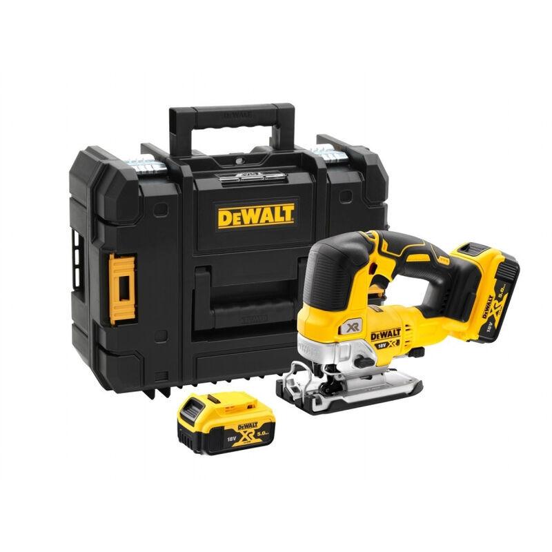 DEWALT Scie sauteuse DEWALT 18V XR 5Ah + 2 batteries + chargeur - DCS334P2